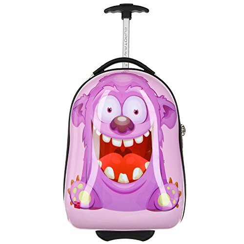 Eurotravel Kinder-Trolley Monster lila