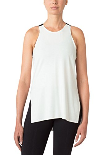 MPG Women's Julianne Hough Collection Surge Split-Side Tank XS Winter White