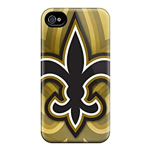 Perfect Hard Cell-phone Case For Iphone 4/4s With Provide Private Custom Fashion New Orleans Saints Pattern PhilHolmes