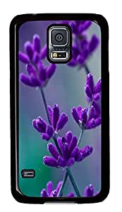 cheap Samsung Galaxy S5 covers Blooming Lavender PC Black Custom Samsung Galaxy S5 Case Cover