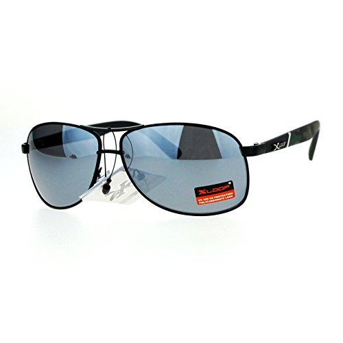 SA106 Mens Camouflage Arm Narrow Rectangular Sport Aviator Sunglasses Black - Aviator Sunglasses Narrow
