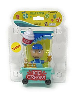 Solar Powered Dancing Summer Ice Cream Cart with Ice Cream Man.