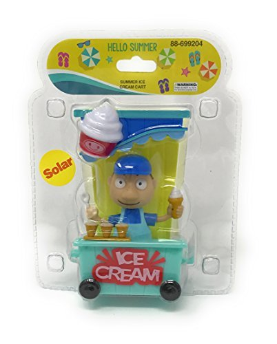 Solar Powered Dancing Summer Ice Cream Cart with Ice Cream Man.
