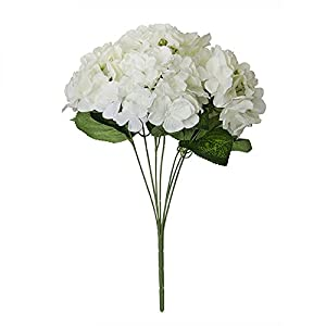 FYYDNZA 7 Fork Artificial Flower Hydrangea Silk Flower Real Touch Fake Flower Home Wedding Bridesmaid Bridal Daily Home Decor Decoration 93