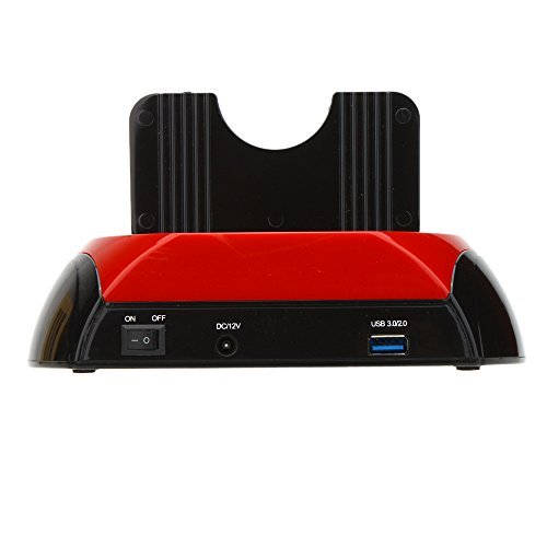 KKmoon SATA USB 3.0 / 2.0 Dock Station US Plug All in 1 HDD Docking Dual Double 2.5''/3.5'' IDE by KKmoon (Image #3)