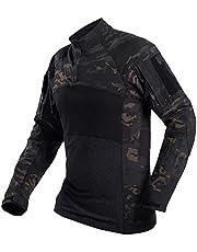 YZRDY Militär herr kamouflage taktisk t-shirt långärmad bomull andningsbar strid groda skjorta män träningströjor S-3XL strid