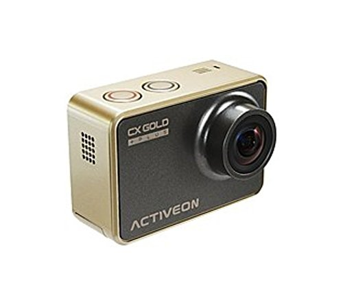 ACTIVEON Digital Camcorder - 2'' - Touchscreen LCD - CMOS - Full HD - Gold - 16:9-4x Digital Zoom - Electronic (IS) - HDMI - USB - microSDXC, microSDHC - Memory Card (Certified Refurbished) by Activeon