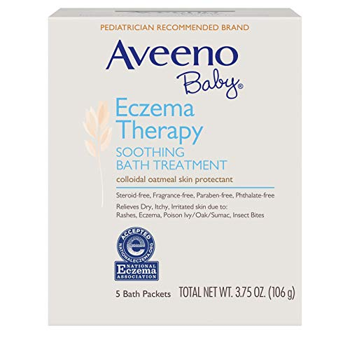Aveeno Baby Eczema Therapy Soothing Bath Treatment with Soothing Natural Colloidal Oatmeal, 5 ct. ()
