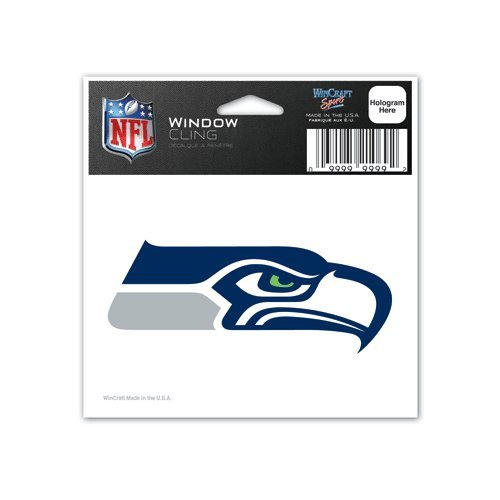 (Seattle Seahawks 3x3 Auto Window Cling Decal - NFL)
