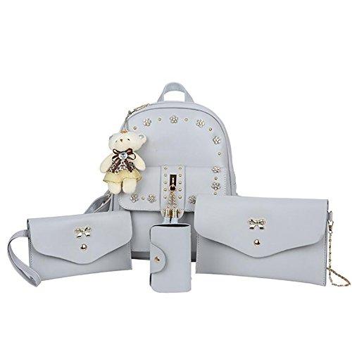 Multi function Casual Backpack 14 Soft Bag Women's 24 Handbag 29cm pu Leather Fashion q1tA6