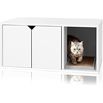 Way Basics Eco Friendly Modern Cat Litter Box Furniture (made From  Sustainable Non Toxic ZBoard