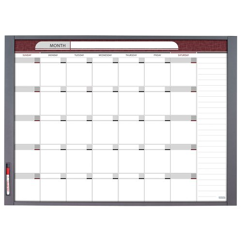 Quartet Inview Custom Whiteboard, 47.5 x 35 Inches, .5 Inch Graphite Frame (72981) by Quartet