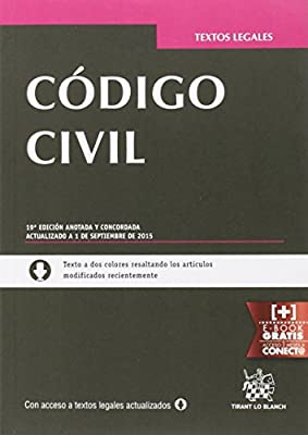 Código civil 19ª Edición 2015 (Textos Legales): Amazon.es: Blasco Gascó, Francisco de Paula: Libros