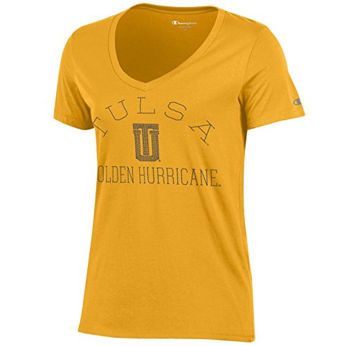 NCAA Champion Women's University Short Sleeve V-Neck T-Shirt Tulsa Golden Hurricane X-Small
