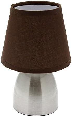 Ac Déco Lampe De Chevet Touch Marron Tactile à 3 Intensités