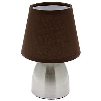 Lampe De Chevet Touch Marron Tactile A 3 Intensites Amazon Fr
