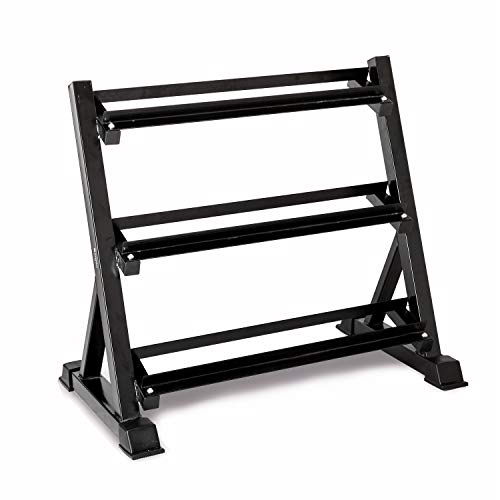 Bonnlo 3 Tier Dumbbell Rack Only, 660 LBS Load-Bearing Heavy Duty Steel Dumbbell Stand Quick Assembly for Home Gym, Black