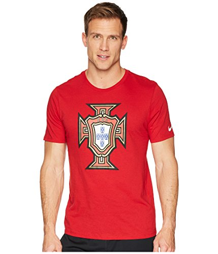 (NIKE 2018-2019 Portugal Evergreen Crest Tee (Red))