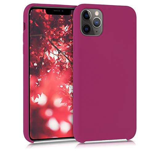 kwmobile TPU Silicone Case Compatible with Apple iPhone 11 Pro Max - Soft Flexible Rubber Protective Cover - Pomegranate Red