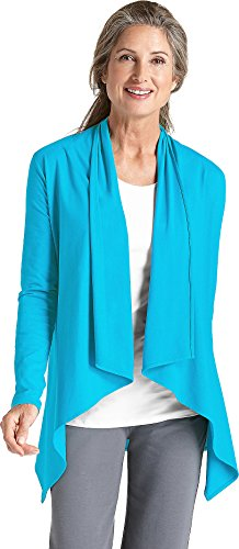 Coolibar UPF 50+ Women's Sun Wrap - Sun Protective (Large- Pool Party) (Wrap Bamboo)
