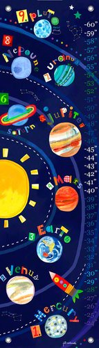 Oopsy Daisy Solar System Growth Chart by Jill McDonald, 12 by 42-Inch by Oopsy Daisy