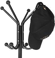 HOMFA Percheros de Pie Colgadores Metálicos de Árbol para ropa bolsa corbatas 12 Ganchos 174cm Negro