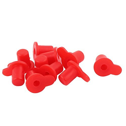 DealMux 10 Pcs Red PVC End Cap Round 5mm Tubing Dustproof Tube Inserts