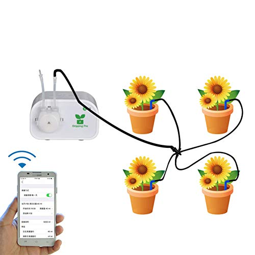 Aoile Pretty Smart Automatic Flower Watering Tool with Drip Irrigation System£¬Vacation Plant Waterer for Garden Supplies(U.S. regulations)