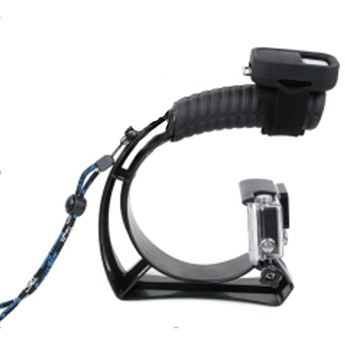 CLOVER Stabilizing Handle Low Angle Stabilizer Grip Mount for GoPro HD HERO4, HERO3+ and HERO3 with Accessory Shoe for Flash, Mic, or Video Light