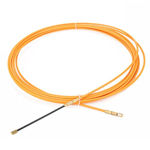 Tool Wire Installation - uxcell 33 Feet (10M) Glass Fiber Fish Tape Dia 0.16in (4mm) Electrical Wire Threader Cable Running Rods Fish Tape Pulling