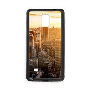 super shining day Best City Skyline New York City Manhattan Samsung Galaxy Note 4 Back Covers With TPU Material Material