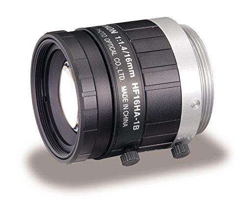 Fujinon HF16HA-1B 16mm F1.4-F16 Fixed Focal Lens for 1.5MP Cameras, C-Mount, Manual Iris, Industrial and Machine Vision Applications