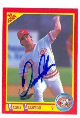 Danny Jackson autographed baseball card (Cincinnati Reds) 1990 Score #289 - MLB Autographed Baseball (1990 Score Autographed Card)