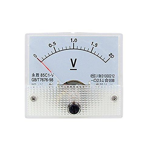 85C1 DC 0-2.0V Rectangle Analog Volt Panel Meter Gauge: