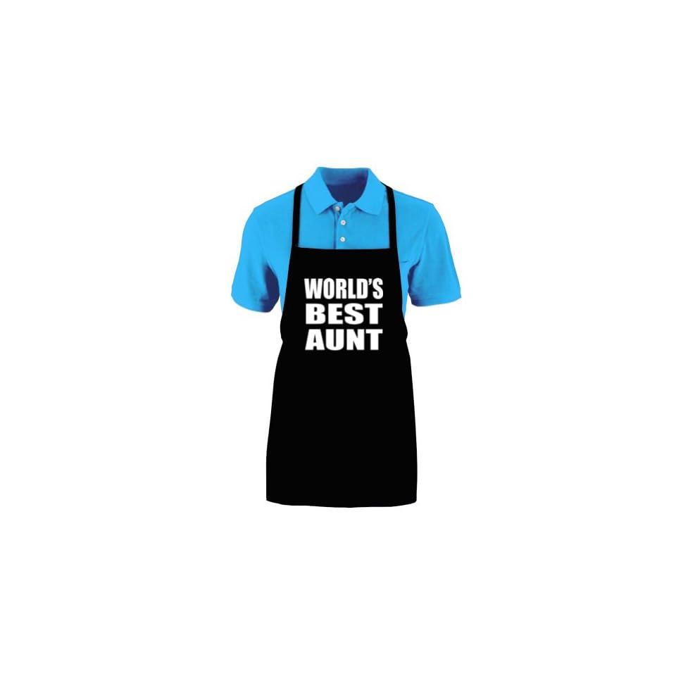 Funny WORLDS BEST AUNT Medium Length Kitchen Unisex Apron