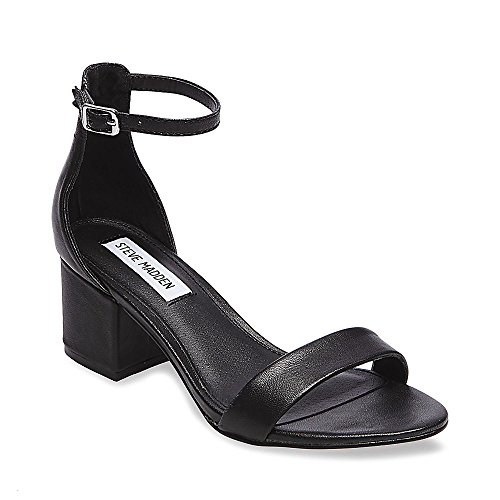 8b645c1aed43 Galleon - Steve Madden Women s Irenee Black Leather 420 9.5 US