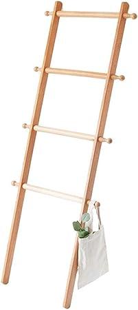 XYMJ Fuerte Escalera nórdica de Madera Maciza de Estilo japonés Escalera pequeña, baño de Dormitorio contra la Pared de Madera Perchero Colgante de Almacenamiento Perchero (Color : #1): Amazon.es: Hogar