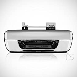 megaauto Rear Door Handle Tailgate Chrome Parts Handle Isuzu Rodeo Dmax D-Max 2002-2011