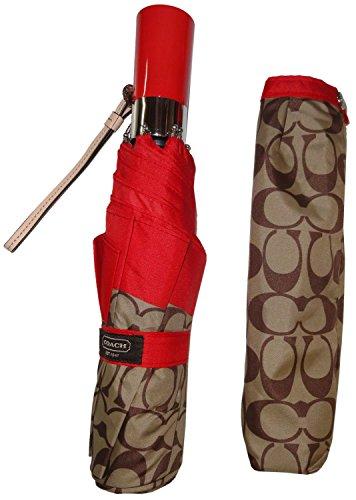 Coach Signature Park Umbrella F62553 / F63364 Red/Khaki