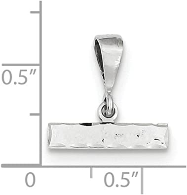 14k White Gold w Casted Large Diamond-cut Number 7 Charm
