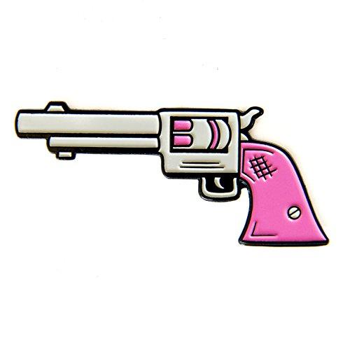 Pistol Pin (Ectogasm 100030 Feminist Pink Pistol Enamel Pin - Fashion Accessory for Women - Cute Girl Gang Flair)