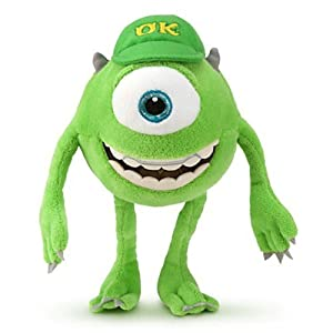 "Disney Mike Wazowski Mini Bean Bag Plush – Monsters University – 9"""
