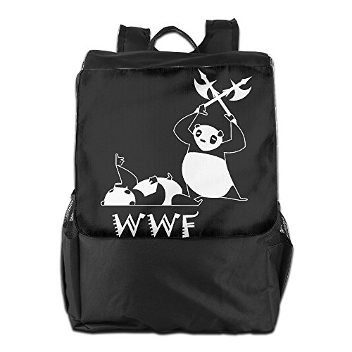 Outdoor Men And Women Travel Backpack Painting The Picture On The Backpack Angry Panda Bear Wrestling  Convenient ZHONGRANINC by ZHONGRANINC