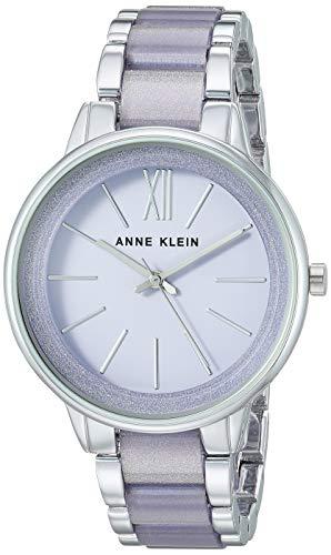 Anne Klein Women's AK/1413LVSV Silver-Tone and Lavender Resin Bracelet ()