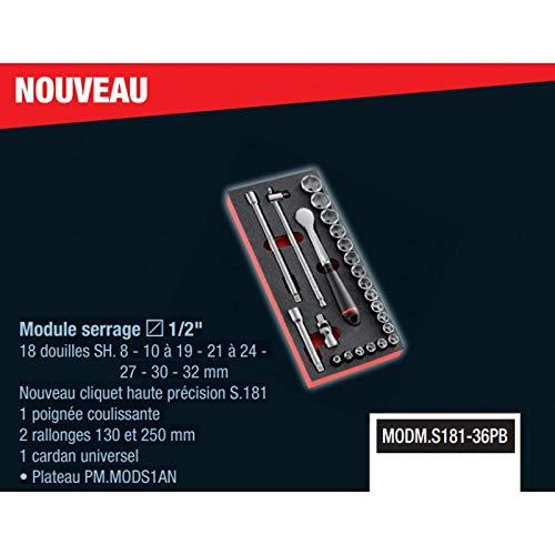 Facom Module cliquet HP//douilles 1//2 MODM.S181-36PB