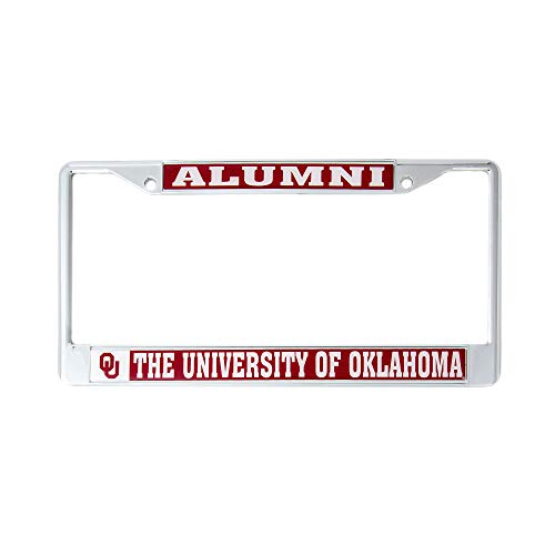 Desert Cactus University of Oklahoma Alumni Metal License Plate Frame for Front Back of Car Officially Licensed UO Sooners (Alumni)