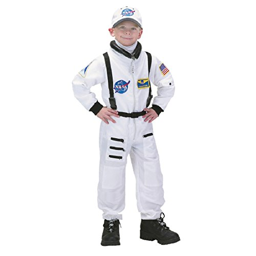 Jr. Astronaut White Suit Kids Costume, White / ()