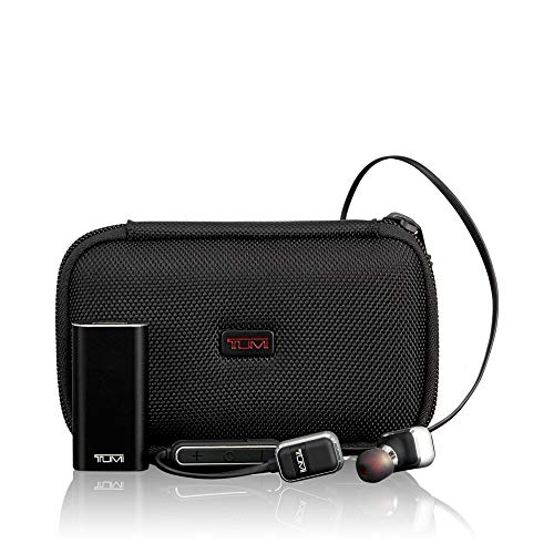 TUMI - Wireless Earbuds Headphones - Bluetooth in Ear Crisp Sound, 25 HR Playtime, 500mAh Battery Bank - Black/Gunmetal