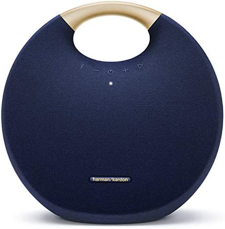 Harman Kardon Onyx Studio 6 Wireless Bluetooth Speaker - IPX7 Waterproof Extra Bass Sound System with Rechargeable Battery and Built-in Microphone - Blue