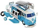 Airfix Quickbuild Volkswagen Light Blue Camper Van Brick Building Model Kit by Airfix